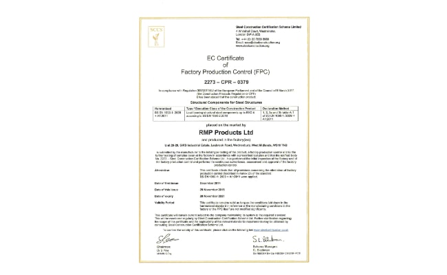 RMP FPC Certificate